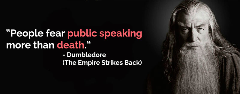 """People fear public speaking more than death."" - A classical tale of the misquote."